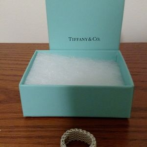 Tiffany silver mesh ring size 8 brand new